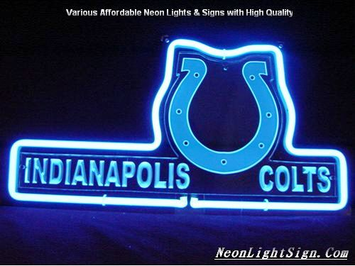 NFL Indianapolis Colts 3D Neon Sign Beer Bar Light