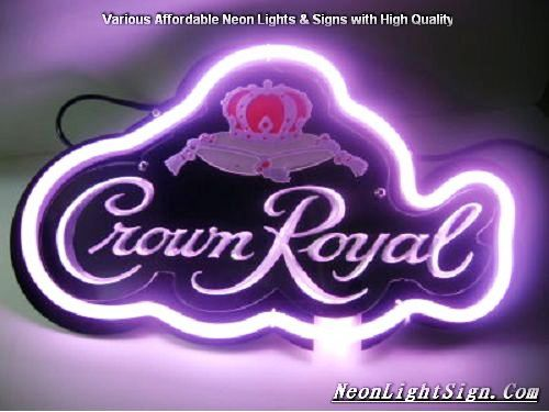 Crown Royal 3D Beer Bar Neon Light Sign - Beer Bar Neon