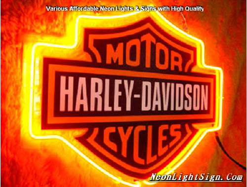 Harley Davidson Motor Cycle Neon Light Sign