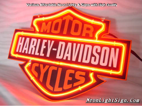 Harley Davidson HD MotorCycle Neon Light Sign