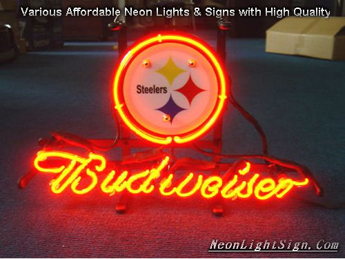 Nfl Pittsburgh Steelers Budweiser Beer Bar Neon Li Nfl