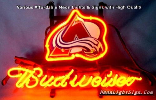 NHL Colorado Avalanche Budweiser Beer Bar Neon Light Sign