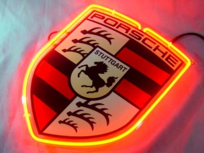 Porsche Stuttgart Horse Neon Bar Light Sign