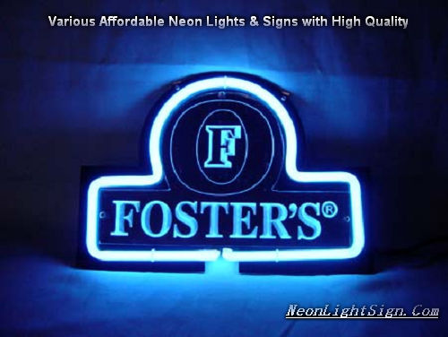 Foster\'s Fosters 3D Beer Bar Neon Light Sign