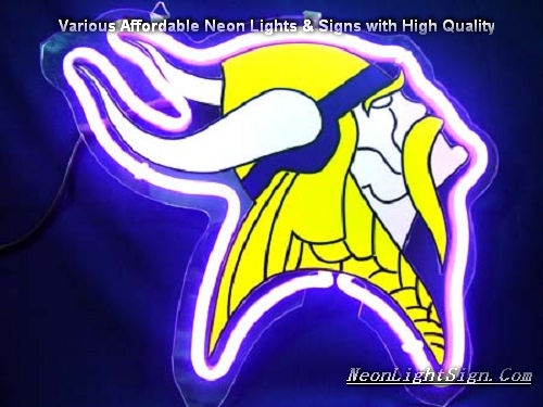 NFL Minnesota Vikings 3D Neon Sign Beer Bar Light