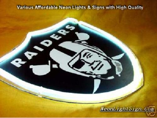 Nfl Oakland Raiders 3d Neon Sign Beer Bar Light Nfl