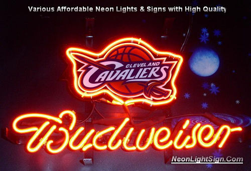 NBA Cleveland Cavaliers Budweiser Beer Bar Neon Light Sign