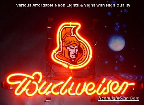 NHL Ottawa SENATORS Hockey Budweiser Beer Bar Neon Light Sign
