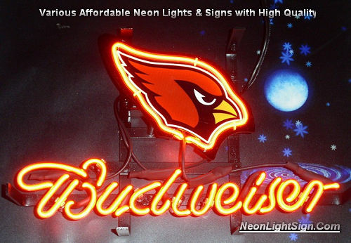 NFL Arizona Cardinals  Budweiser Beer Bar Neon Light Sign