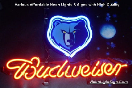 NBA Memphis Grizzlies Budweiser Beer Bar Neon Light Sign