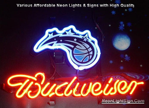 NBA Orlando Magic Budweiser Beer Bar Neon Light Sign