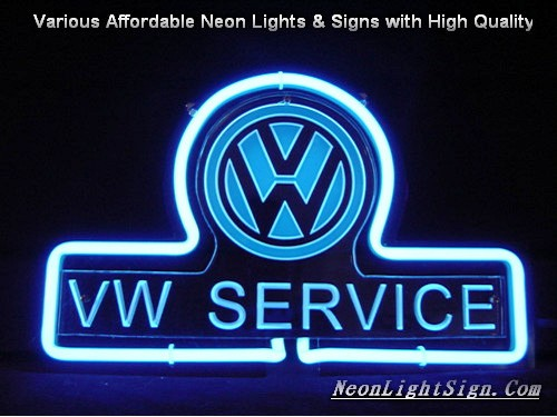 Volkswagen VW SERVICE LOGO 3D Beer Bar Neon Light Sign