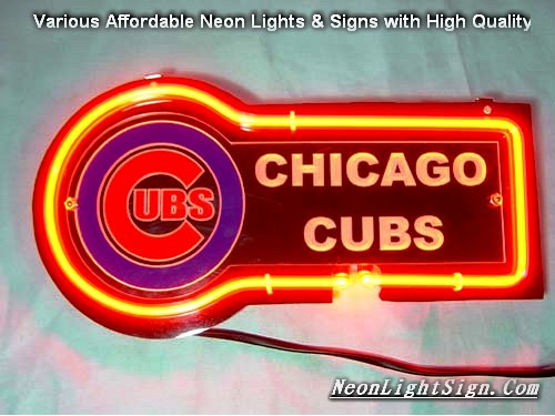 MLB CHICAGO CUBS 3D Beer Bar Neon Light Sign