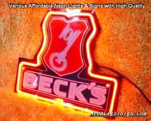 BECKS 3D Beer Bar Neon Light Sign