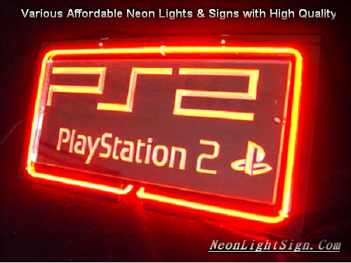 PlayStation 2 PSP3D Beer Bar Neon Light Sign