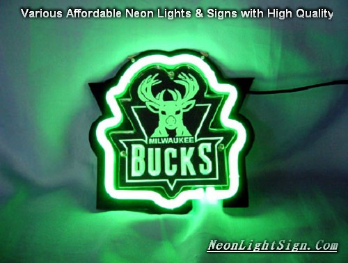 NBA Bucks 3D Beer Bar Neon Light Sign