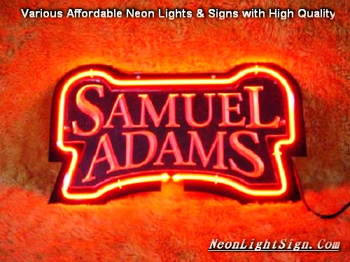 SAMUEL ADAMS 3D Beer Bar Neon Light Sign