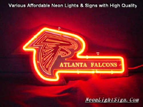 NFL ATLANTA FALCONS 3D Beer Bar Neon Light Sign