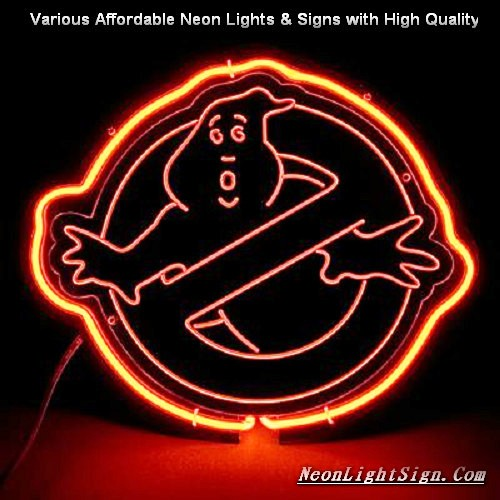 Ghostbuckers 3D Beer Bar Neon Light Sign
