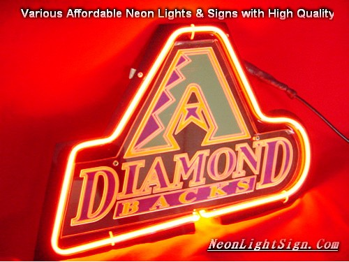 MLB Arizona Diamond 3D Beer Bar Neon Light Sign