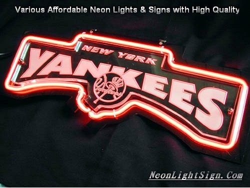 MLB NEW YORK YANKEES 3D Beer Bar Neon Light Sign