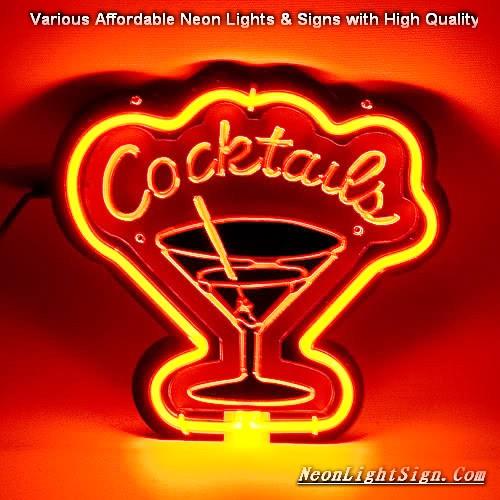 Cocktails 3D Beer Neon Light Sign
