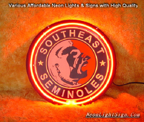 SOUTHEAST SEMINOLES 3D Beer Bar Neon Light Sign