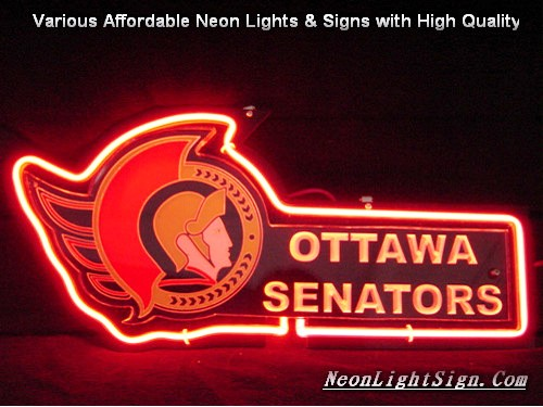 NHL OTTAWA SENATORS 3D Beer Bar Neon Light Sign
