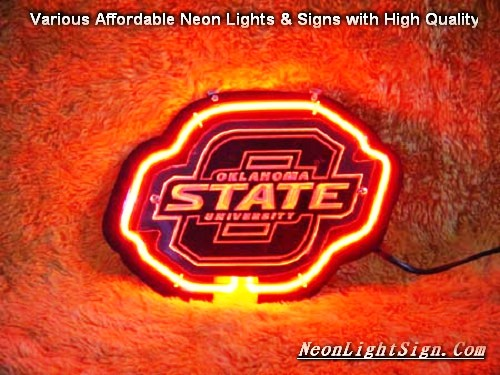 NCAA Oklahoma State University Cowboys 3D Beer Bar Neon Light Sign