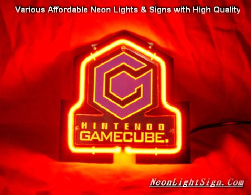 HINTENOO GAMECUBE 3D Beer Bar Neon Light Sign