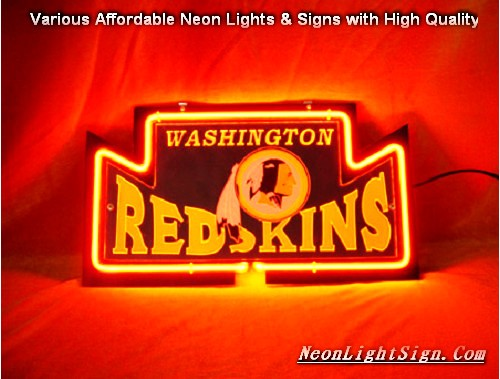NFL WASHINGTON REDSKINS 3D Beer Bar Neon Light Sign