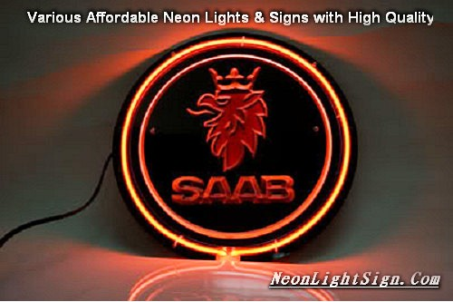 SAAB Svenska Aeroplan AB 3D Beer Bar Neon Light Sign