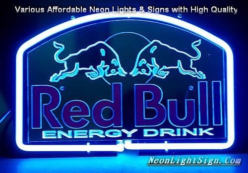 Red Bull Energy Drink 3D Beer Bar Neon Light Sign
