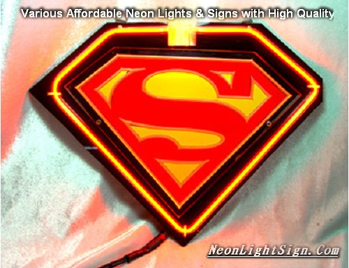 SUPERMAN LOGO 3D Beer Bar Neon Light Sign