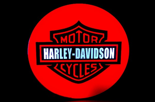 Harley-Davidson HD Motorcycle Dealer Neon Light Box Sign