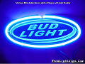 Bud Light 3D Beer Bar Neon Light Sign