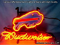NFL Buffalo Bills Budweiser Beer Bar Neon Light Sign
