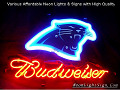 NFL Carolina Panthers Budweiser Beer Bar Neon Light Sign