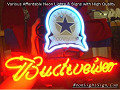 NFL Dallas Cowboys Budweiser Beer Bar Neon Light Sign