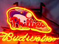 NFL Philadelphia Phillies Budweiser Beer Bar Neon Light Sign