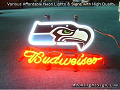 NFL Seattle Seahawks Budweiser Beer Bar Neon Light Sign