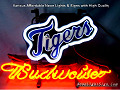 MLB Detroit Tigers Budweiser Beer Bar Neon Light Sign