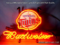 MLB Minnesota Twins Budweiser Beer Bar Neon Light Sign