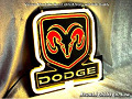 Dodge Logo Automobile Neon Bar Light Sign
