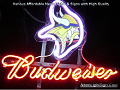 NFL Minnesota Vikings Budweiser Beer Bar Neon Light Sign