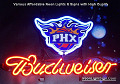 NBA NEW Phoenix Suns Budweiser Beer Bar Neon Light Sign
