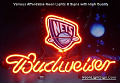 NBA New Jersey Nets Budweiser Beer Bar Neon Light Sign