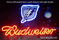 NHL Tampa Bay Lightnings Budweiser Beer Bar Neon Light Sign