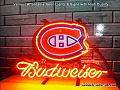 NHL Montreal Canadians Hockey Budweiser Beer Bar Neon Light Sign