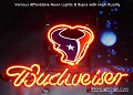 NFL Houston Texans Budweiser Beer Bar Neon Light Sign